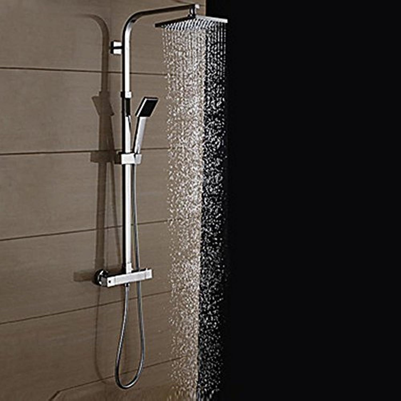 Moderne Duschsystem Regendusche Handdusche inklusive Thermostatische with Keramisches Ventil Zwei Griffe Zwei Lcher for Chrom ,