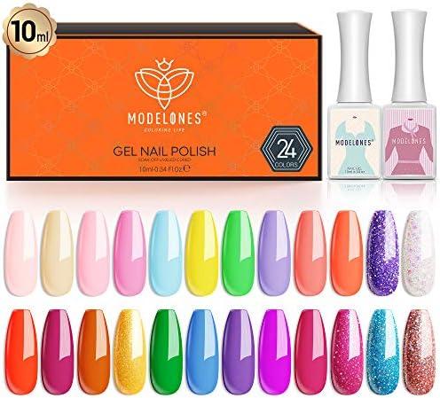 Gel Nail Polish 24 Colors 10 ML Summer Neon Gel Polish Soak Off Nail Gel Polish Kit Glitter product image