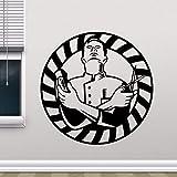 yaonuli Barbiere Adesivi murali Salone Rimovibile Vinile Adesivo murale Decorazione Barbiere Decorazione Parrucchiere Negozio murale 42x47cm