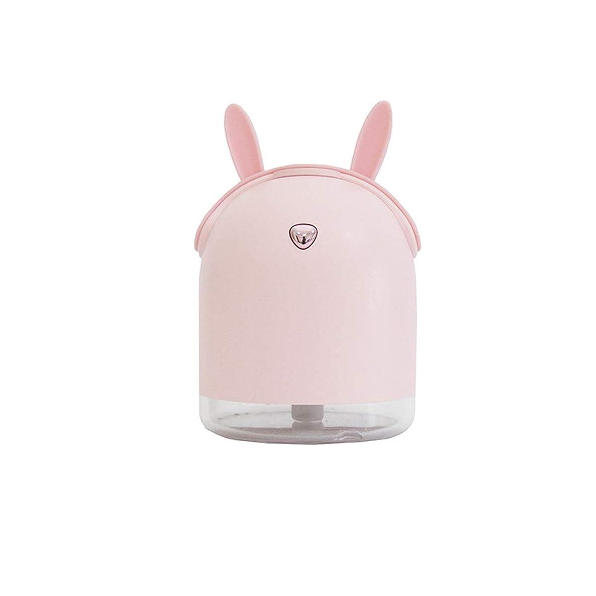 力学追放するレクリエーションペットの加湿器を充電USB加湿器カーミニ加湿器コンパクトポータブル (Color : Pink)