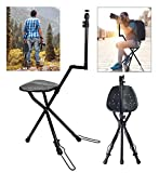 Vidpro SP-12 SeatPod Portable Folding Camera Mount with Integrated Chair. Perfect for Nature Photography Bird Watching and Sporting Events. Compatible with Cameras DSLRs Spotting and Telescopes