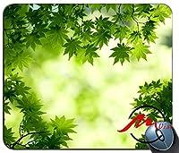 ZMviseグリーンメープルは、ファッション漫画マウスパッドマットカスタム長方形ゲーミングマウスパッドを残します