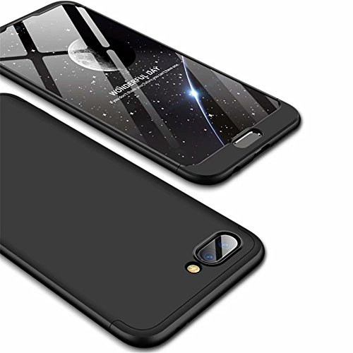 Ttimao Kompatibel mit Huawei Honor 10 Hülle PC Hardcase [Gehärtetem Glas Film] Scratch und Shockproof Ultradünne 360 Grad Full-Cover Case 3-in-1-Schutzhülle (Schwarz)