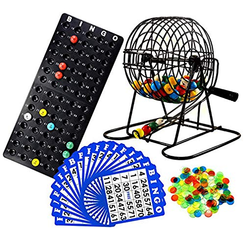 Regal Games Deluxe Bingo Game Set with Bingo Cage, Bingo Board, Bingo Balls, 50 Bingo Cards, and Bingo Chips, Ideal for Large Groups