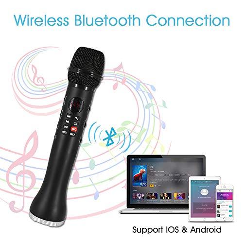 SanyaoDU Professionele karaoke-microfoon, draadloze speaker, draagbare bluetooth-microfoon voor telefoon, iPhone, hand, condensatormicrofoon