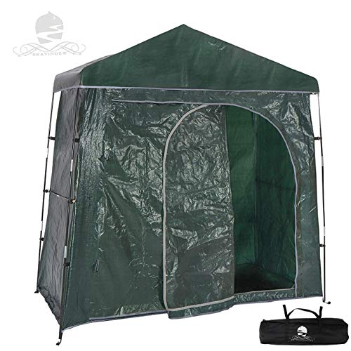 Bravindew Outdoor Bike Storage Shed Tent Heavy Duty Space Saving Bicycle Garden Pool Storage Shed All Season Weatherproof Reusable Bike Shed with Waterproof Cover…