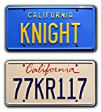 Knight Rider | KITT + 77KR117 | Metal Stamped License Plates...