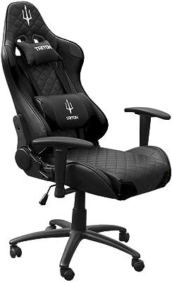 triton p050-x3-bb Gaming Chair-sedia, Piel sintética, Negro/