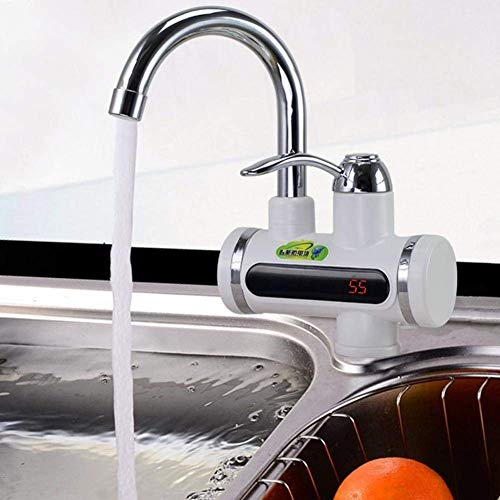 Dr. Water ABS Electric Tap-Faucet Dr Water for Instant Quick Water Heating in Bathroom, Kitchen Basin (Chrome, Large)
