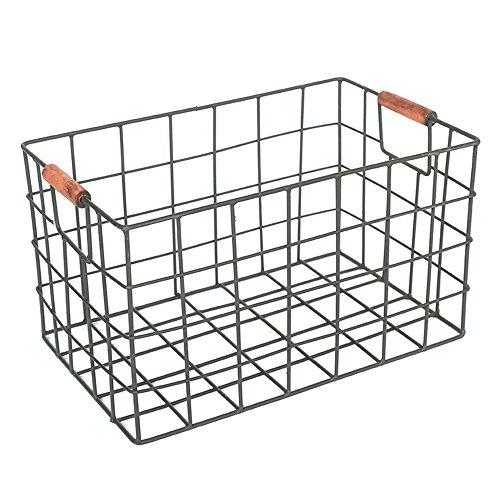 YBWEN-OSB Aufbewahrungsbox für Büromaterial Schmiedeeisen-Ablagekorb Schreibtisch-Schreibtisch-Dokumenten-Zeitschriften-Imbiß-Frucht-Ablagekorb Ablagekorb (Größe : S)