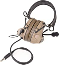 Newest Camouflage headp Comtac II Tactical Headset Noise Reduction Electronic Sound Pickup Safety Ear Muffs with Microphone