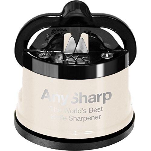 AnySharp Pro Messerschärfer (Metall) mit Saugnapf, Crème