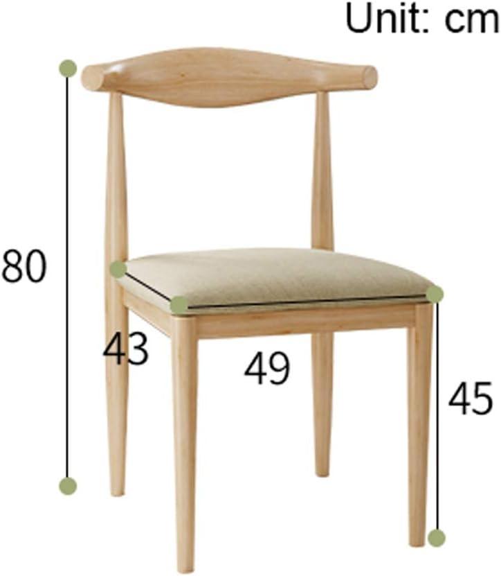SLL- Chaise de Salle, Chaise de Bureau Simple, créative Dossier, Chaise Loisirs, Maison Adulte Chaise de Salle Moderne (Color : Black-A) Brown