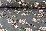 Qualitativ hochwertiger Modal Jersey Stoff mit Blumen auf