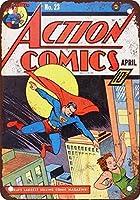 アクションコミックス#23ヴィンテージルック複製メタルティンサイン12X16インチ