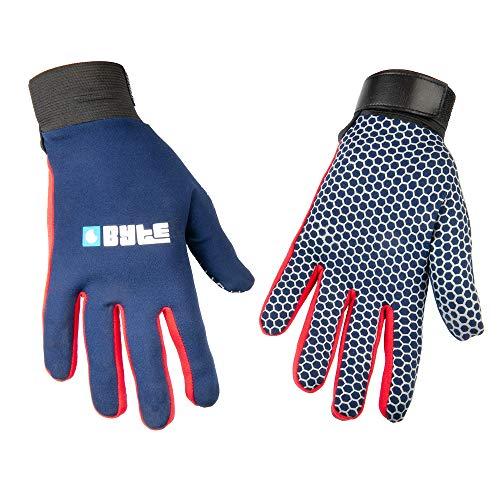 Byte Skinfit Hockeyhandschuhe, Marineblau, marineblau / rot, XX-Small