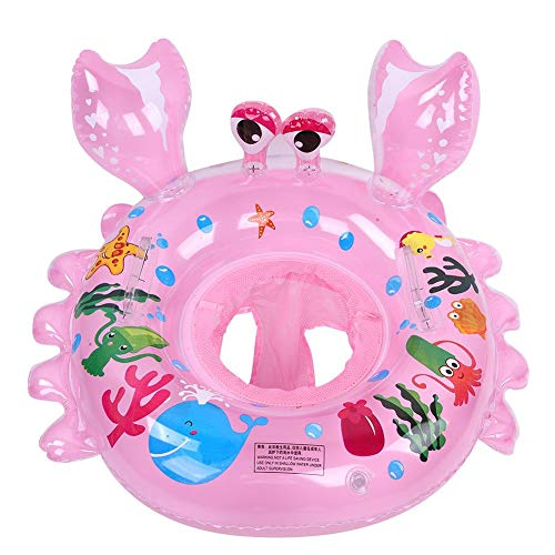 T best Baby Swimming Float, Cute Cartoon Inflatable Swimming Ring Floats Thicken Seat Float Summer Water Sport Pool Accessories for Boys Girls(Pink)