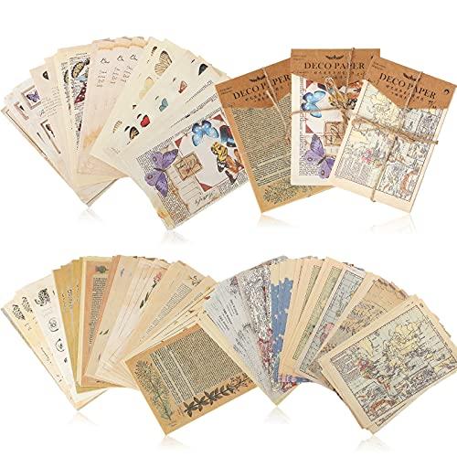 180 Fogli Carta per Scrapbooking Vintage Carta per Diario Vintage Carta da Scrivere Leggera per Sfondo Artigianato Fai da Te Carta Decorativa Retrò per Scrittura Decorazioni Fai da Te