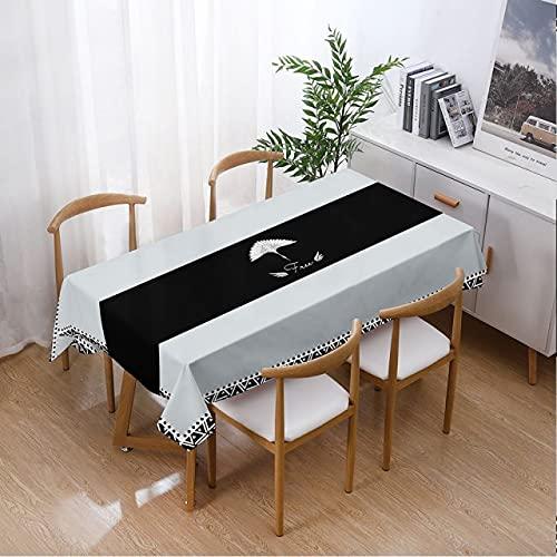 Mantel Impermeable Rectangular Mesa de Picnic Hogar Mesa de Comedor Cubierta Mesa de té Decoración 140x240cm Transparente