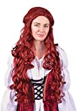Bristol BW956 - Peluca medieval para mujer, color rojo