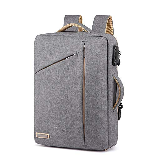 Kaper Go Backpack Men's Multi-function Travel Bag Anti-theft Lock Business Computer Bag Casual Bag (Color : Gray)