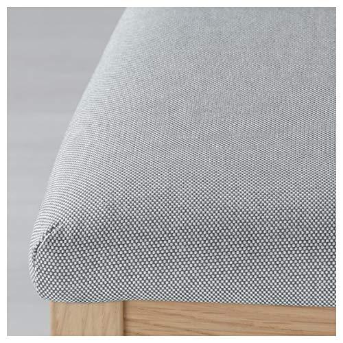 BestOnlineDeals01 EKEDALEN Silla de roble, Ramna gris claro, 43 x 51 x 95 cm, duradera y fácil de cuidar. Sillas tapizadas. Sillas de comedor. Sillas. Muebles. Respetuoso con el medio ambiente.
