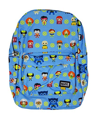 Loungefly x Marvel X-Men Chibi Character All-Over Print Nylon Backpack (Multicolored, One Size)