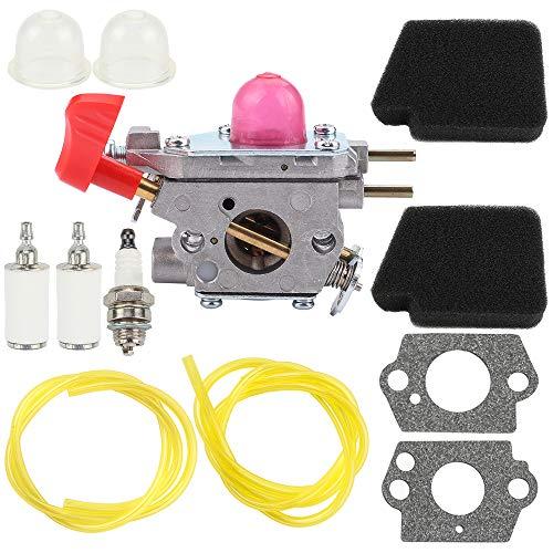 Kuupo 545081857 C1U-W43 Carburetor with Air Fuel Filter Line Spark Plug for Poulan VS-2 BVM200FE Leaf Blower Zama C1U W43B Carb Craftsman Weedeater Poulan Trimmer