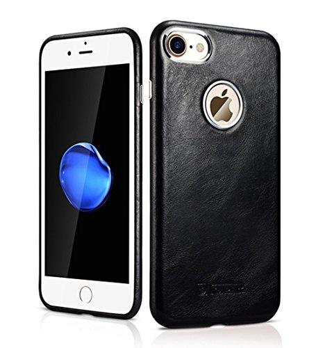 iPhone 7case, Mangix Icarercase [vintage Classic Series] lusso Premium in vera pelle custodia cover posteriore con [ultra slim] per Apple iPhone 711,9cm Retro Black
