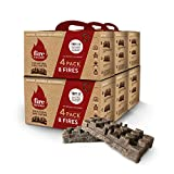FireBuilder – Natural Firelighters – Eco Fire Starter - No Kindling Needed; Smokeless and Odorless with Fuller Fires Faster; Fire Lighters for Wood Burners, Fireplace, BBQ and Fire Pit.