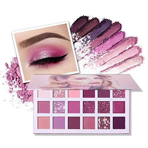 ONEWELL Nueva paleta de sombras de ojos desnudas 18 colores Brillo mate Brillo Sombras multirreflectantes Tez Maquillaje de cereza ultra pigmentada Sombra de ojos