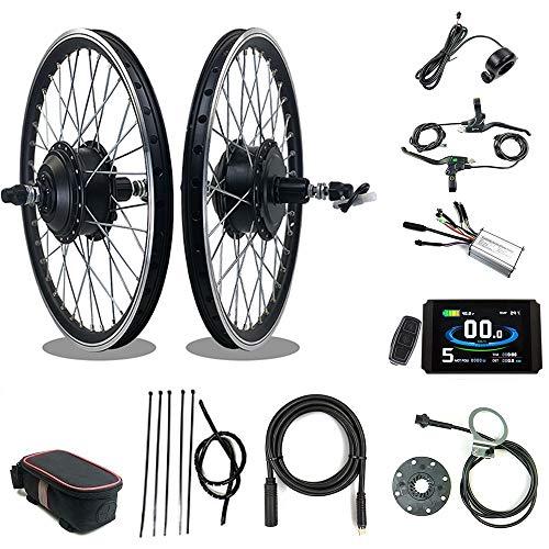 RICETOO Kit de conversión de Bicicleta eléctrica 36V / 48V 250W 16''20