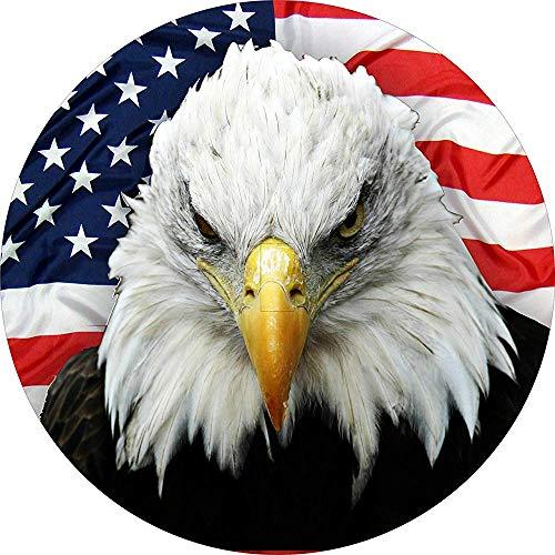 LYMT Aquila met Amerikaanse vlag op de achtergrond, reserveband met UP-camera voor 285 / 70r17
