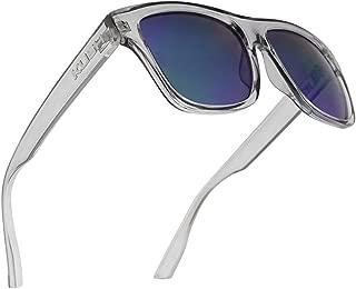 Classic Square Transparent Frame Sunglasses Mirrored Retro Sport Fashion Shades