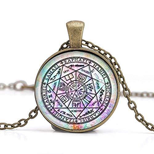 Sieben Bogen Engel Anhänger Schutz Amulett Erzengel Michael Halskette Engel Schmuck Gabriel Halskette