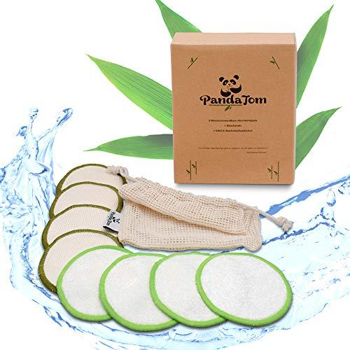 PandaTom® 20 Abschminkpads Waschbar | Wiederverwendbare Zero Waste Abschminktücher aus Baumwolle & Bambus | Wattepads für die umweltbewusste Frau