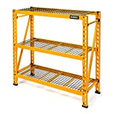 DEWALT 4-Foot Tall, 3 Shelf Steel Wire Deck Industrial Storage Rack, Adjustable for Custom Workshop/Garage Storage Solutions, Total Capacity: 4,500 lbs.