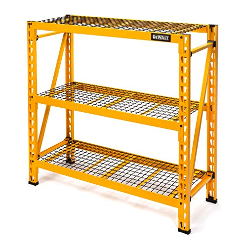 DEWALT 4-Foot Tall, 3 Shelf Steel Wire Deck Industrial Storage Rack, Adjustable for Custom...