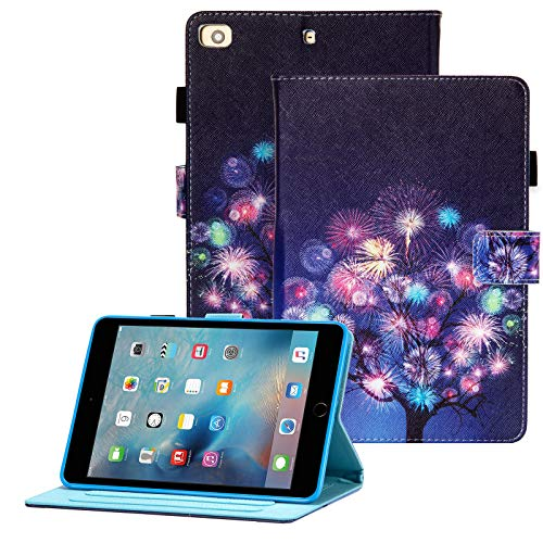 iPad Mini Case, Mini 2 3 4 Mini 5 Case,Popbag PU Leather Multi-Angle Viewing Stand Folio Smart Corner Protection Cover with Auto Wake/Sleep for Apple iPad Mini 1 2 3 4 Mini 5 2019, Firework