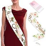 Qpout Oro Rosa 60 Favoloso Sash-60 Accessori Regalo per Compleanni Compleanno con Braccialetti diamantati a Forniture per Feste di Compleanno per sessant'anni