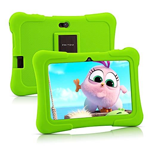 Pritom 7 inch Kids Tablet   Quad Core Android 10.0, 16GB ROM  ...