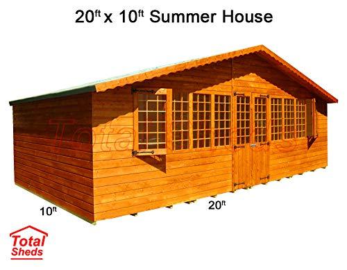 Total Sheds 20ft (6m) x 10ft (3m) Summer House Cabin Supreme Cabin