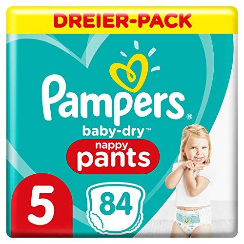 Pampers Größe 5 Baby Dry Windeln, 84 Stück, Für Atmungsaktive Trockenheit (12-17kg)