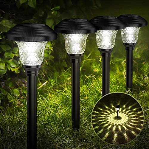 Balhvit Glass Solar Lights Outdoor 8 Pack Super Bright Solar Pathway Lights Up to 12 Hrs Long product image