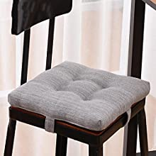 jHuanic Fundas redondas para taburetes de bar y taburetes, suaves, cuadradas, para sillones, cojines de asiento, fundas de cojín (30 x 30 x 5 cm, color gris