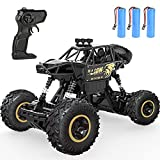 [3 Rechargeable Batteries] The RC truck included 1 rechargeable high-quality Li batteries. It takes about 3hrs to full charge and can be played 25mins at maxmium speed or 30mins at normal speed. Additional battery can extend your fun of driving to 1 ...