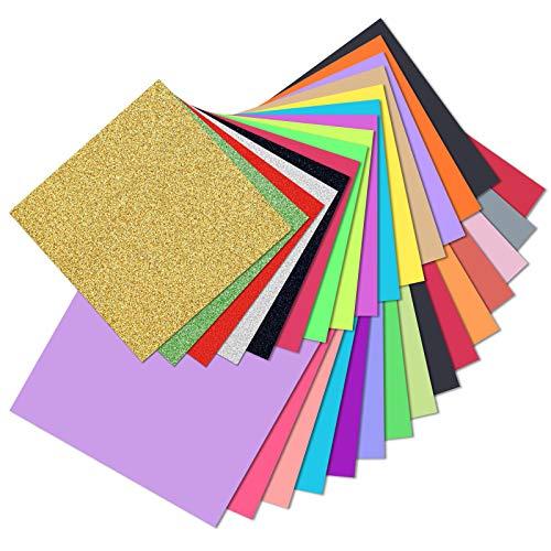Koogel Origami Carta 160 Fogli 50 Colori Carta Colorata per bricolage in Misure assortite per Natale fai da te e progetti di bricolage 15 x 15 cm/20 x 20 cm