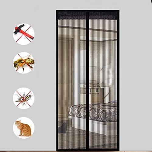 PBY Magnet Fliegengitter Tür Insektenschutz,Magnet Fliegengitter Tür Einfach Zu Montieren Rahmen-Klettverschlüsse Für Balkontür Wohnzimmer Terrassentür,150x200cm(59x79inch)