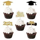 tao pipe Graduation Cupcake Topper Herzlichen Glckwunsch Abschluss Kuchen Topper Set, fr 2021 Abschlussfeier Dekoration