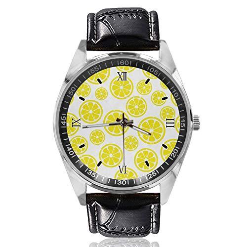 Lemon - Reloj de pulsera para mujer, diseño sencillo y clásico, para mujer